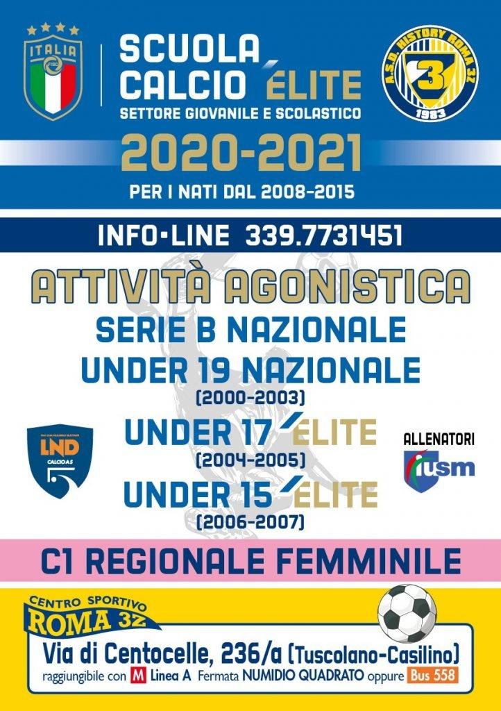 scuola calcio HISTORY ROMA 3Z